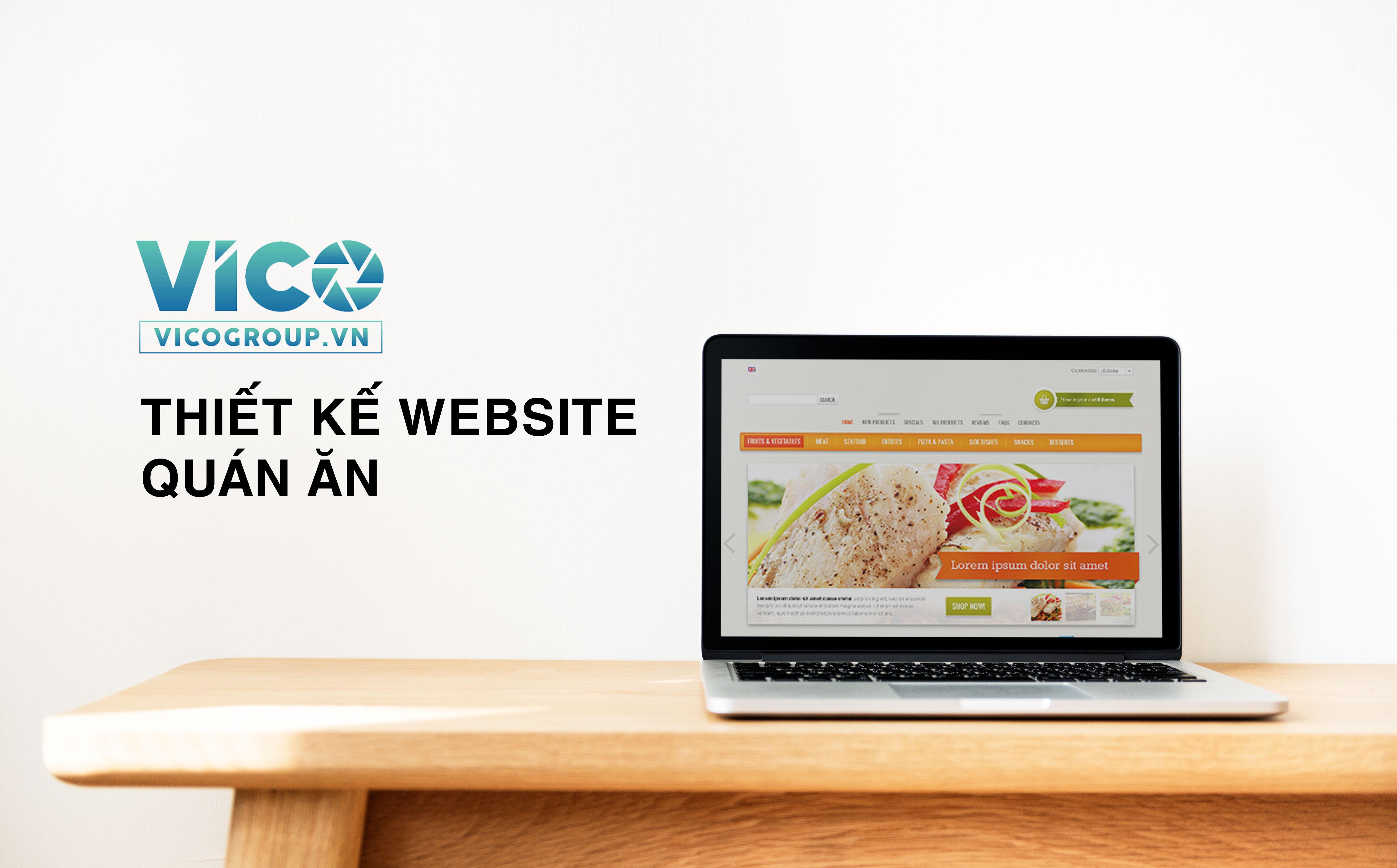 Thiết kế website quán ăn